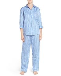 Lauren by Ralph Lauren | Blue Cotton Pajamas | Lyst