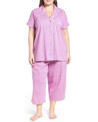 Lauren by Ralph Lauren | Pink Capri Pajamas | Lyst