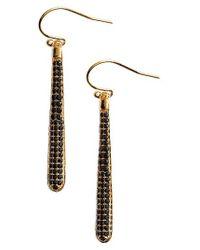 Kate Spade | Metallic Shine On Pave Linear Drop Earrings | Lyst