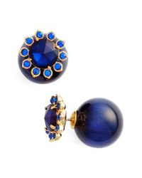 kate spade new york - Blue Second Nature Front/back Earrings - Lyst