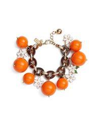 Kate Spade | Orange Citrus Crush Charm Bracelet | Lyst