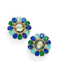 Kate Spade | Blue Cluster Stud Earrings | Lyst