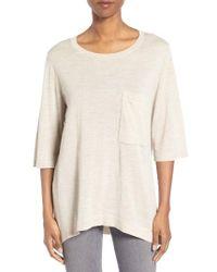 Eileen Fisher | Natural Merino Wool Sweater | Lyst