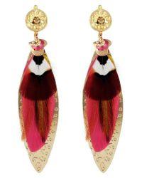 Gas Bijoux - Pink Large Sao Drop Earrings - Lyst