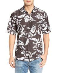 Jack O'neill | Black Ixtapa Regular Fit Short Sleeve Print Sport Shirt for Men | Lyst