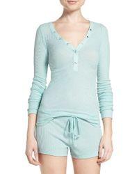 Pj Salvage | Green Ribbed Pajamas | Lyst