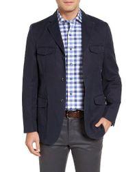 Kroon | Blue Hozier Classic Fit Cotton & Linen Blazer for Men | Lyst