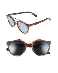 Revo Buzz Retro 52mm Sunglasses - Honey Matte Tortoise/ Blue