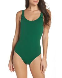 Solid & Striped Green The Lucy One-piece Swimsuit