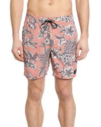 Barney Cools | Pink Amphibious 17 Swim Trunks for Men | Lyst