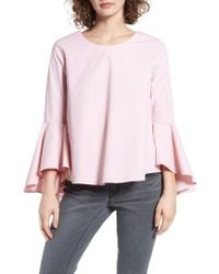 daad274f09083d Lyst - Soprano Bell Sleeve Top in Pink