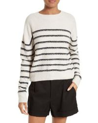Vince | White Stripe Sweater | Lyst