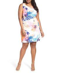 Ellen Tracy - Multicolor Floral Ponte Sheath Dress - Lyst