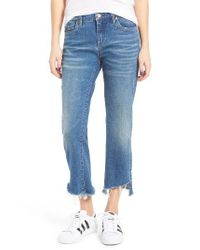 Blank NYC | Blue Shredded Kick Flare Jeans | Lyst