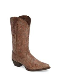 Ariat | Brown Round Up J-toe Western Boot | Lyst
