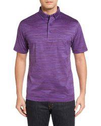 Bugatchi   Purple Stripe Jersey Polo for Men   Lyst