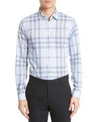 Burberry Brit | Blue Whitehead Abzji Trim Fit Check Sport Shirt for Men | Lyst