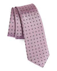 Calibrate   Pink Descrete Geometric Silk Tie for Men   Lyst
