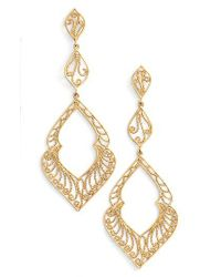 Argento Vivo Metallic Marquee Drop Earrings