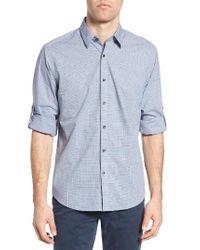 James Campbell | Blue Coggan Regular Fit Check Sport Shirt for Men | Lyst