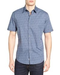 James Campbell - Blue Gugino Floral Sport Shirt for Men - Lyst