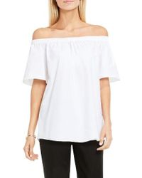 32b02e708b744 Lyst - Vince Camuto Off The Shoulder Blouse in White