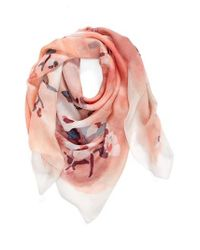 Vince Camuto | Pink Sakura Blossom Silk Scarf | Lyst