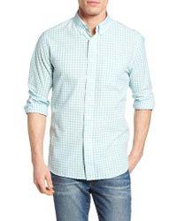 Grayers | Blue Grange Shadow Gingham Sport Shirt for Men | Lyst