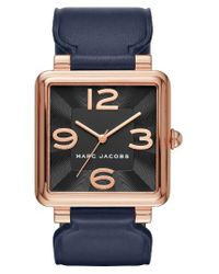 Marc Jacobs | Multicolor Vic Leather Strap Watch | Lyst