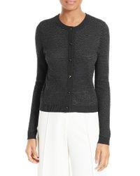 MILLY | Black Hexagon Knit Cardigan | Lyst