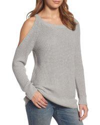 Treasure & Bond | Gray Asymmetrical Cold Shoulder Sweater | Lyst