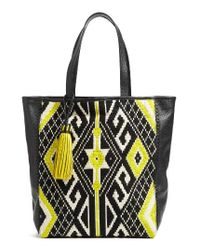 Rebecca Minkoff - Yellow X Feed Woven Tote Bag - Lyst
