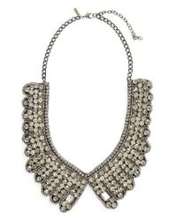 TOPSHOP | Metallic Scallop Crystal Statement Necklace | Lyst