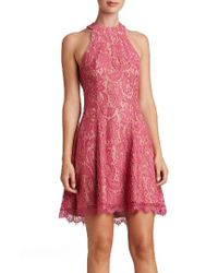 Dress the Population - Red Angie Halter Dress - Lyst