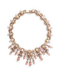 Marchesa - Metallic Sheer Bliss Collar Necklace - Lyst