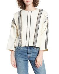 Moon River | Multicolor Fringe Sweatshirt | Lyst