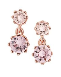 Ted Baker | Pink Ted Baker Conolle Crystal Drop Earrings | Lyst