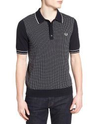 Fred Perry   Blue Dot Knit Polo for Men   Lyst