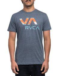 RVCA | Blue Chopped Va Graphic T-shirt for Men | Lyst