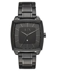 Armani Exchange | Black Square Bracelet Watch for Men | Lyst