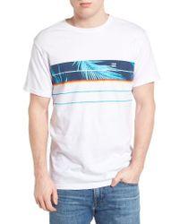 Billabong   White Lo Tide Spinner Graphic T-shirt for Men   Lyst
