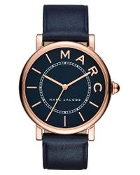 Marc By Marc Jacobs | Blue Marc Jacobs Roxy Leather Strap Watch for Men | Lyst