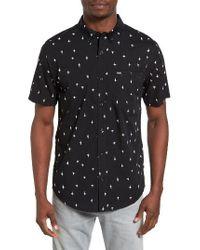 Hurley | Black Montauk Print Woven Shirt for Men | Lyst