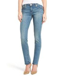 True Religion | Blue Cora Straight Leg Jeans | Lyst