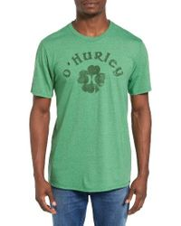 Hurley | Green Border Luck Graphic T-shirt for Men | Lyst