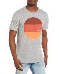 Hurley | Gray Circular Block Graphic T-shirt for Men | Lyst