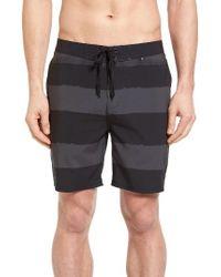 Hurley | Black Phantom Beachside Brother Board Shorts for Men | Lyst