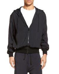 Vince - Black Hooded Jacket for Men - Lyst