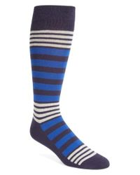 Calibrate - Blue Variegated Stripe Socks for Men - Lyst