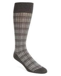 Calibrate - Gray Herringbone Stripe Socks for Men - Lyst